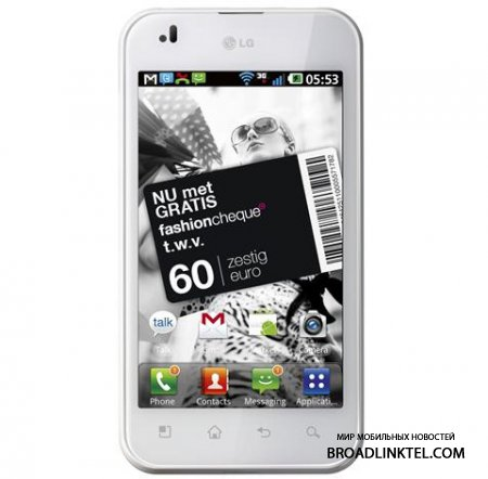 LG Optimus White Edition смартфон для Нидерландов