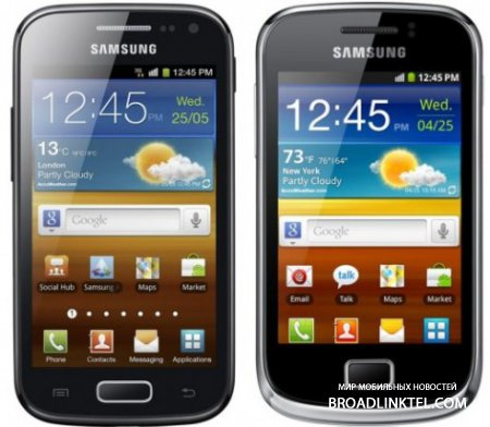 ���������� ������������ Samsung Galaxy Ace 2 � Galaxy mini 2