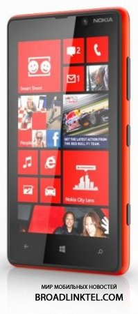 Смартфон Lumia 820 с Windows Phone 8 новинка от Nokia