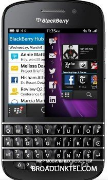 BlackBerry Q10 старт продаж намечен на март