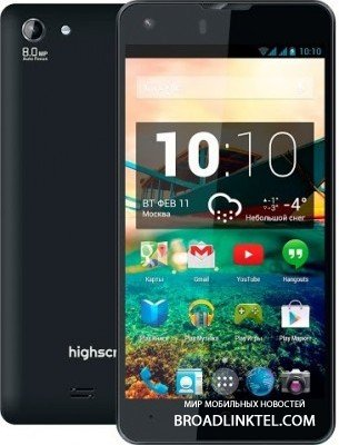 Highscreen Omega Prime S � ����� 4-������� ���������� � Android KitKat � 4 �������� ��������