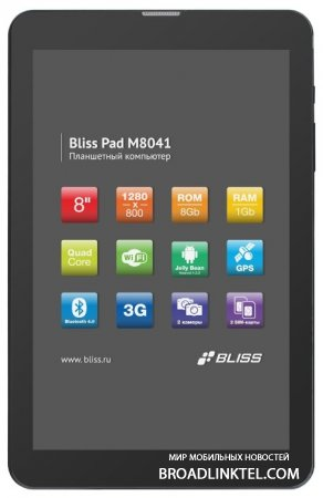 Bliss Pad M8041 � ����� 8-�������� Android-������� � ���������� dual-SIM