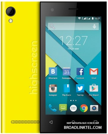 Highscreen Pure F � ����������� ����� ��������� �������� �� Android 5.0 Lollipop