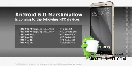 �������� ���� ������ Android 6.0 Marshmallow ��� ���������� HTC � ��������� Nexus