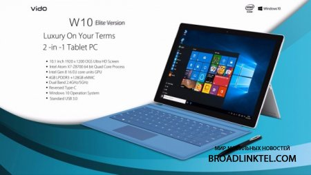 Vido W10 Elite � ��������� 10.1-�������� �������-����������� � 4 �� ��� � Windows 10 �� $350